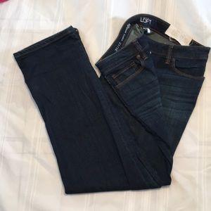 Ann Taylor Loft denim jeans 31/12 curvy straight